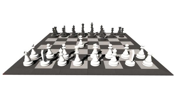 """Spiel """"Schach und Dame"""""""